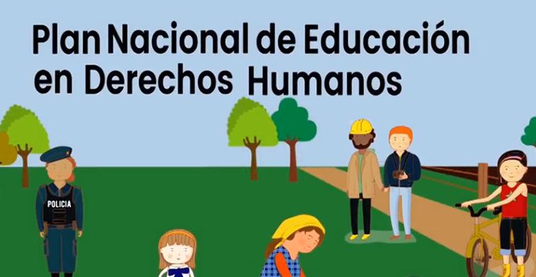 Campaña del Plan Nacional de Educación en Derechos Humanos con intérprete de lengua de señas