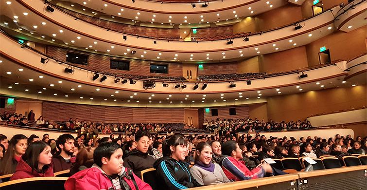 Cientos de escolares y liceales participaron en el lanzamiento del Ciclo de Conciertos Didácticos