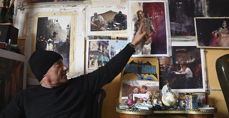 Artista comparte proceso creativo con estudiantes de arte de la UTU