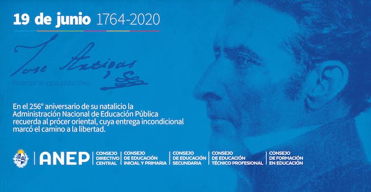 La ANEP conmemora el 256° aniversario del natalicio del Gral. José Artigas