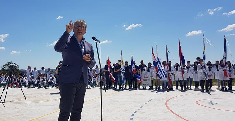 ANEP inauguró cancha polideportiva para la comunidad del barrio La Matutina en Tacuarembó