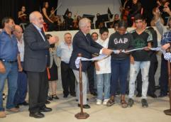 inauguración de proyecto educativo y cultural