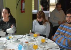 Foto: primer desayuno con los medios de comunicación